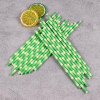 dia cm toptan satış-600 X Dia 1 cm Tek Kullanımlık Kabarcık Çay Kalın Bambu İçme Kağıt Payet