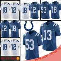 camisetas de fútbol peyton manning al por mayor-13 Ty Hilton Indianapolis 53 Darío Leonard Colt 18 Peyton Manning 12 Andrew Luck hombres de fútbol jerseys camiseta