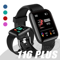 Wholesale iphone plus rates for sale - 116 Plus Smart watch Bracelets Fitness Tracker Heart Rate Step Counter Activity Monitor Band Wristband PK PLUS M3 for iphone Android