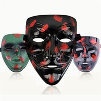 styles de maquillage de fête achat en gros de-Noir V Party Style de camouflage Ghost Face Mask V Revanche Masque Maquillage Bal costumé Décoration Clown Masque T3I5374