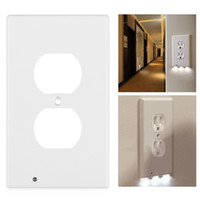 ingrosso coperture della presa di uscita-Wall Plate uscita di copertura con le luci di notte del LED, copertura di sicurezza sensore di luce Plug Interruttore coperchio dello zoccolo del piatto per il Corridoio