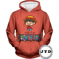 camiseta dos homens unisex venda por atacado-Hoodies Homens 3D One Piece Luffy Camisola Dos Homens Hoodies Das Mulheres Moletons Família Presente para Crianças Camisolas Unisex Jumper Casal T-shirt S-5XL