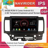 ingrosso schermo lancer-Car Multimedia Player 10.2 pollici IPS Screen Monitor GPS registratore Bluetooth Android 9.0 per Mitsubishi Lancer 2014 Auto Audio auto dvd