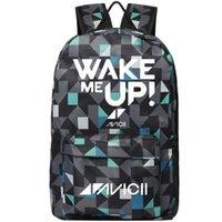 lazer dj venda por atacado-Mochila Avicii Wake me up mochila DJ Tim Bergling mochila de música Cool mochila de lazer Saco de escola de desporto Pacote de dia ao ar livre