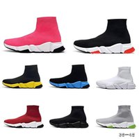 Wholesale sports shoes designs for sale - Group buy 2019 Paris Top Design Sock Shoe Speed Trainer Breathable Sneakers Speed Trainer Sock Race Runners classic black Shoes men women Sports Shoes