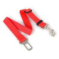 cinturones de seguridad de coche rojo al por mayor-Arnés del cinturón de seguridad del cinturón de seguridad del asiento de seguridad para el automóvil del auto del automóvil para el gato del animal doméstico del perro