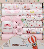 bebek giyim malzemeleri toptan satış-Bebek giysileri bahar yenidoğan hediye kutusu anne ve çocuk malzemeleri dolunay bebek elbise 18 takım pamuk yenidoğan takım elbise