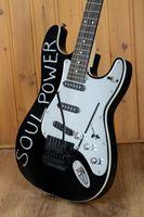 Wholesale st guitar floyd resale online - Custom Shop Tom Morello Soul Power Black Aerodyne ST Electric Guitar Floyd Rose Tremolo Tailpiece Mirror Pickguard Black Hardware