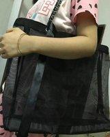 sacs gif achat en gros de-2019 Nouveau sac de magasinage de grande capacité en filet noir pour envoyer un sac à main trompette et un ensemble de ruban