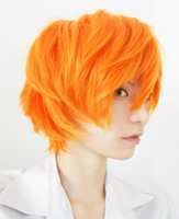 Wholesale haikyuu cosplay for sale - Group buy Details about US Ship Haikyuu Hinata Syouyou Short Straight Bright Orange Cosplay Full Wig