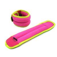 knöchel eisen großhandel-1 Paar 1 kg / 0,6 kg Handgelenk Knöchel Gewichte für Frauen Kinder Fitness Eisen Sandsack Gewichte Riemen Beste für Walking