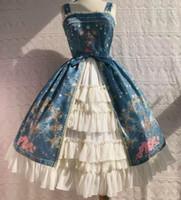 One Piece DE Latest Design Photos Cute Theme Costume Women's Fashionable Blue Dress Lolita Dress Plus Size Style