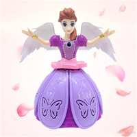 Wholesale best lighted toys resale online - 2019 Hot Sell New degree electric dance princess light music rotating angel children s toy best present of Christmas
