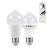 e27 led ampul ışık sensörü toptan satış-Hareket Sensörü Işık E27 Gece Lambası 7 W 9 W 12 W 18 W Oto ON / OFF Merdiven Için LED Ampul Balkon Gece Lambası Güvenlik Acil Işıkla ...