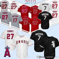 Wholesale tim anderson baseball jersey for sale - Group buy 7 Tim Anderson Chicago WhiteJerseys Sox Mike Trout Shohei Ohtani Los Angeles Jerseys Angels Baseball Jersey men