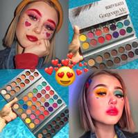 Wholesale pallete makeup resale online - Beauty Glazed Summer Colorful Eyeshadow Palette Colors Matte Shimmer Bright Eye Shadow Pallete Silky Powder Pigmented Makeup Kit