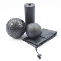 spor blokları toptan satış-3 adet / takım Yoga Blok Rulo Spor Köpük Rulo Epp Masaj Topu Lakros Topu Pilates Vücut Egzersizleri Spor Tetik Noktaları Eğitim C19041501