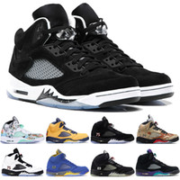 Wholesale oreo 5s basketball shoe for sale - Group buy New Arrival Michigan s Basketball Shoes Mens international flightGrape metallic white Camo oreo Designer Shoes US