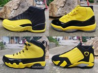 Wholesale retro 12 low resale online - 2020 Mens Basketball Shoes Bumblebee Yellow Black Pack Designer Retro Sneakers Baskets s s des Chaussures Schuhe Size