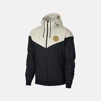 ingrosso calcio jersey hoodie-2019 maglie della squadra del progettista Jackets Mens club di calcio con cappuccio Patchwork sportivo Zipper cappotti di marca della stampa soprabito B100025L