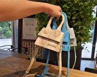 hots bag net toptan satış-2019 sıcak deri Minins net kırmızı T istasyonu süper mini çanta çanta omuz çantası Messenger