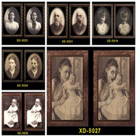 Wholesale picture frame resale online - 3D Ghost Photo Frame Horror Pictures Frames Changing Face Ghost Halloween Party Decoration Halloween Bar Home Decoration Prop DBC VT0554
