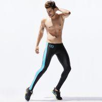 Running Tights Elastic Skinny Leggings Sport Leggings for Man Ankle Length Compression Pants Mens Compression Running Tights Running Pants