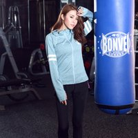 Wholesale winter gym clothes resale online - 19 new Spring new gym jogging track suit female autumn and winter morning run quick drying outdoor clothing piece tide