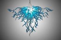 kolye lambası yapmak toptan satış-Müşteri Yapılan Büyük Avize Işık Yüksek Tavan Dekorasyon Murano Cam Kolye Işıkları Yatak Odası Dekor için