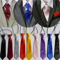 шейные галстуки оптовых-Мальчик Малышей Детская Регулируемая Шея Галстук Эластичный Галстук Высокого Качества Сплошной Цвет Галстук Свадебная Одежда AccessoriesYHD0001a