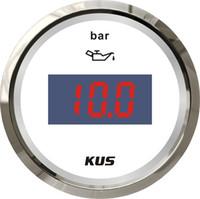 52 мм цифровой автомобильный датчик оптовых-KUS 52mm Car Boat Truck Цифровой измеритель давления масла 0-5Bar / 0-10Bar с подсветкой 12V / 24V