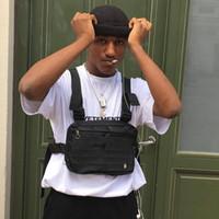 Wholesale tactical molle vest resale online - Black Fanny Pack Tactical Vest Military molle Chest Bag Hip Hop hardness Kanye Waist Pack Tactical Alyx Chest Rig Bag Streetwear