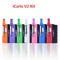 Wholesale batteries fit v2 resale online - 100 Original iCarts V2 Kit with ml Cartridges Preheat Battery Mod Fit Liberty Cartridge VS Imini v1 v2