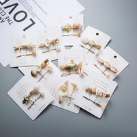 Wholesale seashell accessories resale online - Women Hairpins Hair Clips Pearl Seashell Bobby Pins Side Bangs Clips Barrettes Headwear Ladies Girls Fashion Hair Tool Accessories Jewelry