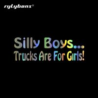 Wholesale truck window stickers words for sale - Group buy 15 cm Funny Silly Boys Trucks Are For Girls Car Stickers and Decals Window Vinyl Car Sticker for Auto Products Accessories