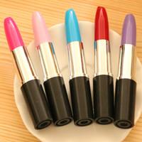 Wholesale lipstick for kids resale online - New Arrival Lipstick Ballpoint Pen Random Color Size cm Pen Gift For Kids Student Stationery Supplier