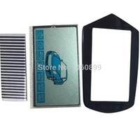 Wholesale car lcd cable resale online - 10pcs B9 flexible cable b9 LCD display keychain Glass Case for Starline lcd remote control key Chain Zebra Stripes car
