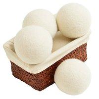 ingrosso lenzuola organiche-Confezione da 6 ammorbidenti in tessuto naturale organico per palline di lana Dryer Un sacchetto da 2.75 pollici con asciugatrice per asciugare la biancheria statica riduce le rughe con il sacchetto di lino