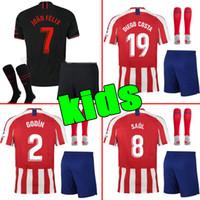 18 shorts groihandel-2019 Real Madrid Ea Sports Kinder-Trikot-Trikots 2018/19 Home White Away 3. Platz 4. Junge Kind Jugend Modric ISCO BALE KROOS Fußball-Shirts