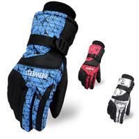 rosa fitnesshandschuhe groihandel-Wasserdichte Skihandschuhe Männer Frauen Warme Ski Snowboard Handschuhe Schneemobil Motorrad Reiten Winter Outdoor Unisex Schnee Handschuhe
