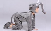 Wholesale purple clothes for girls size online - New style the children cosplay Grey elephant Brown lion Dinosaur Suitable for boys and girls Stage costume dancing clothe