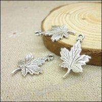 metal yaprak takı toptan satış-Toptan-Ücretsiz nakliye! 75pcs Antik gümüş takılar kolye Fit Bilezikler Kolye DIY Metal Takı Yapımı bırakır