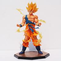 Wholesale free goku toys resale online - With Box cm Dragon Ball Z Super Saiyan Goku Son Gokou PVC Action Figure Model Collection Toy MX191105