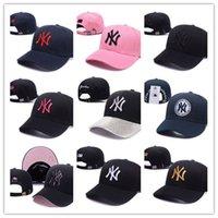 new york capbackback toptan satış-Toptan klasik Golf Topu Kap Erkekler Visor kemik New York Lüks tasarım Snapback Şapkalar Son Kings gorras LK Spor Hokeyi Beyzbol