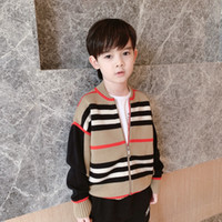 Wholesale baby boys cashmere coats for sale - Group buy New Autumn Baby Boys Girls Sweaters kids thick knitted Zipper Coat trousers for toddler children clothing