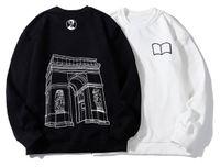 sudadera con capucha vlone al por mayor-Moda VLONE Vintage Harajuku graffiti hip hop capucha para hombre mujeres sudaderas Pullover chaqueta con capucha Outwear