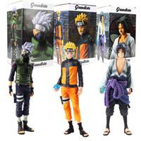 Wholesale kakashi toys for sale - Group buy Anime Naruto Figures Uzumaki Naruto Uchiha Sasuke Hatake Kakashi Grandista Collectible Model Toys Y190604