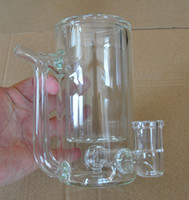 Wholesale pipe bongs for sale - Group buy Glass Coffee Mug Pipe Bong Water Pipe dab oil rig Clear Color With Perc CM Height g for
