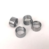 Wholesale brass knuckle silver for sale - Silver color Magnetic adapter Metal Rings for thread Extract Oil Vape cartridges Fit M6T Th2 brass knuckles Kingpen disposable atomizer