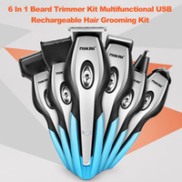 Wholesale grooming hair clipper trimmer resale online - NIKAI In Rechargeable Beard Trimmer Kit Nose Hair Trimmer Hair Clipper Multifunctional Electric Shaver Grooming Kit set